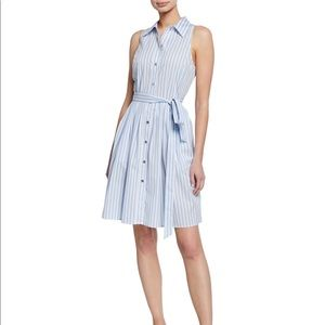 Striped summer dress with tie